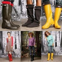 Wholesale 2016 new wellies socks hunter rainboots socks high rain shoes welly fleece women stockings