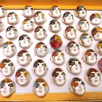 Band Rings beijing mix - Fashion Enamel Beijing Opera Facial Makeup Rings Beijing Opera Facial Mask Rings Fit Costume Ball