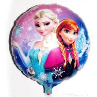 Wholesale Frozen Helium Balloons x45cm Balloon For Birthday Party Princess Anna Elsa Inch Round Aluminum Foil Cartoon Helium Balloons