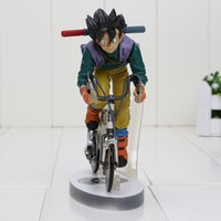 bicycle figure - Anime Dragon Ball Z Sun Gokou Riding Bicycle Desktop Real McCOY Series Action Figure Collectible Toy