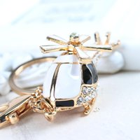 aircraft deliveries - woemens woemens Free delivery of new aircraft a small black Rhinestone charm Cute Charm Keychain Key Ring Pendant Gift Bag