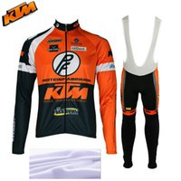 Wholesale KTM winter thermal fleece cycling jerseys sport ropa ciclismo invierno mtb bike pro team winter cycling clothing MTB bike