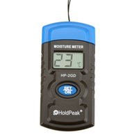 Wholesale HoldPeak HP GD quot in Mini LCD Temperature Humidity Meter Concrete Wood Building Material Moisture Meter