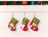 Wholesale Goody Bag Christmas Tree Pendant Claus Christmas Socks Gift Bags The Christmas Tree Ornaments Three dimensional feature