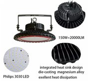 Wholesale UFO led high bay light W with lm led industrial light led warehouse light years warranty