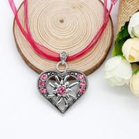 bavarian dirndl - Trendy Jewelry German Bavarian Trachten Dirndl OKTOBERFEST Edelweiss Pink Rhinestone Choker Necklace FN0049 G