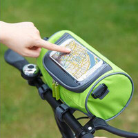 Wholesale hot selling new sports outdoor packs cycling handle bar bags Touch Screen mobile phone Bag Tube shape bike riding touch bags