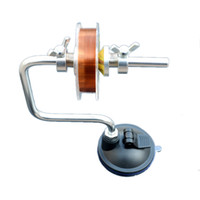 Wholesale Lightweight Portable Fishing Line Winder Reel Spool Spooler System Tackle Aluminum Tensioner Contorl New Fishing Accessory Tool