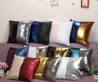 Wholesale Sequins Pillow case cover Reversible Pillowslip Tone Color Pillow Case Magic Swipe Pillow Cover Mermaid Pillow Covers cm KKA853
