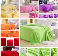 bedclothes blankets - Colorful Flannel Sheetsquilt on The Bed Fabric Super Soft Fashion Brand Bedclothes Cobertor Coral Fleece Blanket