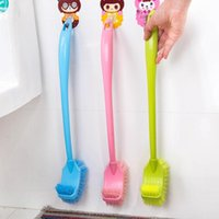 Wholesale 6 Brand New Plastic Toilet Brushes Bathroom Accessories Colors to Choose From FG01129