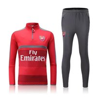 arsenal red - 16 Arsenal red sweater tracksuit Sportswear training Suits men s Clothes Trackring suits Male Hoodies mix order