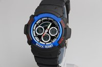 aw rubbers - Sport Watches Promotion Hardlex AW Plastic Unisex Retail Fashion G Watch ga100 Time Zone Watch shocking Watches