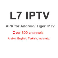 Wholesale 1year arabic L7 IPTV apk replace royal iptv for android smart tv phone android box and Tiger arabic iptv box z280 z400 iptv subscription