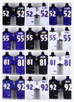 baltimore purple - Baltimore football Jerseys Ravens Rugby Jerseys R LEWIS SUGGS BOLDIN NGATA white black blue FREESHIPPING