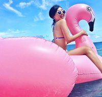 Wholesale 2016 Mattress giant pink flamingo water pool inflatable pool floats toys adult swimming float inflatable floating cm Kickboard animal