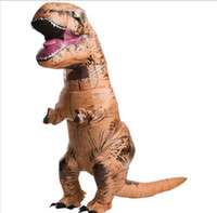 angels inflatables - Hot sale INFLATABLE Dinosaur T REX Costume Jurassic World Park Blowup Dinosaur Halloween Inflatable costume Party mascot costume for adult