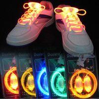 Wholesale Colorful LED Flash Light Up Shoe Laces Party Disco Shoes Strap Glow Stick Shoelaces Boys Girls Multicolor Shoe Strings b497