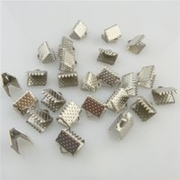 bead ends - 19584 X mm Dull Silver Ribbon Clip Clamps Tips Cord Ends Beads Clasps Hooks