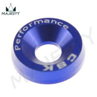 anodized nuts - 8PCS M6 WIDE HEX SCREW BOLT BUMPER FENDER WASHER ANODIZED ALUMINUM BLUE Nuts amp Bolts Cheap Nuts amp Bolts