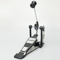 bass drum set - Zinc Aluminum Alloy Professional Kick Bass Pedal Single Chain Drive Foot Pedal and Hammerhead for Adult Drum Set Black