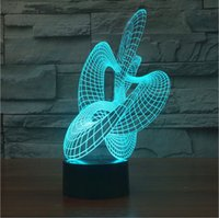 amazing dc - Novelty D Color Changing Mood Lamp Amazing Acrylic D Illusion USB Table Lamp LED Night Light for Indoor Holiday Lighting