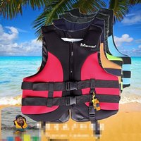 Wholesale Outdoor Life Vest Water Sports Life Jacket Professional Swimwear Swimming Fishing Jacket Lifejacket Inflatable Vest with Whistle