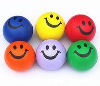 Wholesale 2016 Smiley PU ocean ball Sponge balls Suitable for baby bath toy Multicolor cm g