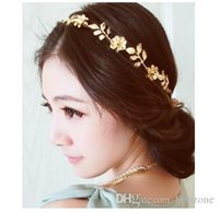 Wholesale 2pcs Fashion Korean Lovely Chain Elastic Hollow Out Rose Flower Stretch Hair Band Headband Metallic Hair Jewelry C0097