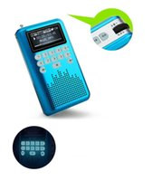 battery music - Mini Portable Rechargeable Radio Digital LED display Stereo SD Card MP3 Music FM Radio Player LV290