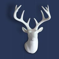 Wholesale American deer head wall decoration living room wall background wall Cafe entrance creative wall decorative ceramic Pendant