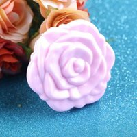 Wholesale 1 Pc Novelty Stereo Rose Flower Shape Portable Pocket Mirror Cosmetic Makeup D Double Sided Mirror Hot Selling
