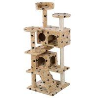 al por mayor gatito nuevo-Nuevo árbol de gato Torre Condo Muebles Scratch Post Kitty Pet House Jugar Beige Paws