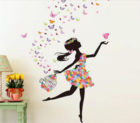 ballet posters - DHL of DIY Wall Sticker Butterfly Wall Decals Bicycle and lovely Ballet Girls Poster Stickers for Home Decor Decoration