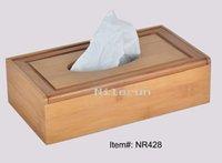 Wholesale bamboo tissue box bamboo tissue case bamboo tissue holder
