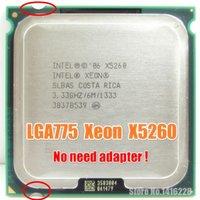 Wholesale Perto de Core Duo E8400 E8500 E8600 CPU Xeon X5260 Processador GHz MB MHz LGA775 Processador não há necessidade de adaptador