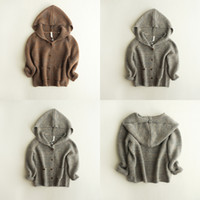 Wholesale winter sweater hooded jacket knits coats for baby girls Boy sweater cardigan Baby Kids Clothes children s clothing