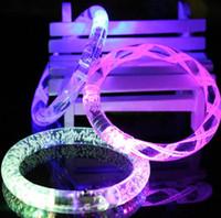 Wholesale Hot Sale colorful changing LED bracelet Light up Bracelet flashing acrylic glowing bracelet toys for christmas ornament JF