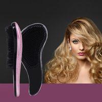 Wholesale fashion Hot Stamping Anti static Hair Brush ABS Magic Hair Brushes Salon Elite Tangle Brush TT Hair Combs