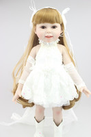 american girl doll collection - 18 inch Full Vinyl American Girl Doll play doll Wedding Beautiful Girl Toy Doll Favorite Friends Collection