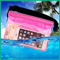 Wholesale PVC Transpant waterproof pocket cosmetic bag wash bath bags Outdoor sports Drift diving swimming pockets For cellphone case travel bag