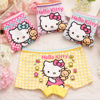Wholesale 2 T Baby Girls Briefs Cartoon Print Girl Underpants Kids Knickers Children panties Pure Cotton Boxer Shorts