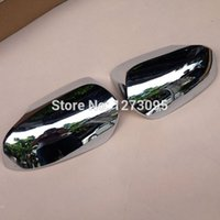 auto door protectors - For Toyota Corolla ABS Chrome Door Side Wing Mirror Cover Rearview Mirror Protector Cover Auto Styling Accessories