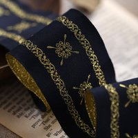 Wholesale Good quality Gold embroidery mmx10yards National wind Polyester Woven Jacquard Ribbon DIY handmade accessories