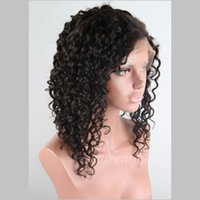 Malaysian Hair african american women hairstyles - Peruvian Half Hand Tied Human Hair Wigs for African American Women Deep Curly Wave remi Hair Wigs Density