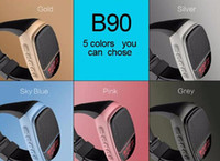 arrival surroundings - New Arrival B90 Mini Bluetooth Speaker Smart Watch Speaker Wireless Subwoofers Speaker With Screen Support TF FM USB Free Ship