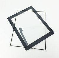 Wholesale 1pcs Black Glass Touch Screen Digitizer W Home Button Assembly for iPad Tools Free Middle Frame