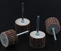 Wholesale 80 Grit mm Shank Shutter Grinding Head Sandpaper Wheel Fine Polishing Impeller Wheel Grinding Head Grinding Unit