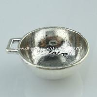 antique pans - 14275 Alloy Antique Silver Vintage Pan Bowl Words Love You Pendant Jewelry