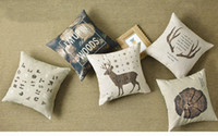 antler case - Nordic deer antler alphabet letters woods slow down the time words pattern Cushion Cover decorative throw pillow Case
